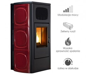 Piecyk na pelet -   RED Orchidea Air 9,5 kW